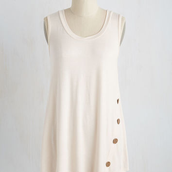 The Picture of Quaint Top in Ivory | Mod Retro Vintage Short Sleeve Shirts | ModCloth.com