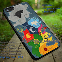 Game of Thrones Houses Map iPhone 6s 6 6s+ 5c 5s Cases Samsung Galaxy s5 s6 Edge+ NOTE 5 4 3 #movie #gameofthrones dt