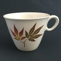 Vintage Franciscan Twice Nice Pattern Coffee Tea Mug Cup Porcelain China Maple Leaf