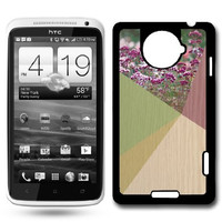 Floral Geometric On Wood HTC One X Case Fits HTC One X