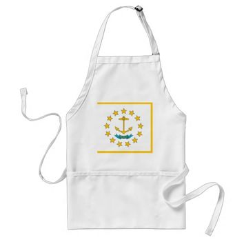 Apron with Flag of Rhode Island, U.S.A.