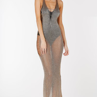 Khloe Metallic Maxi Dress