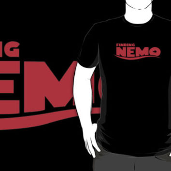 #vh Finding Nemo logo black t-shirt