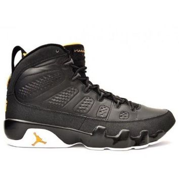DCCKL8A Beauty Ticks 302370-004 Nike Air Jordan 9 (ix) Retro Black Citrus White A09004
