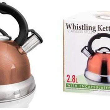 Imperial Home Stainless Steel Whistling Tea Kettle - Copper - 2. - CASE OF 12