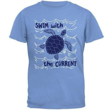 CREYCY8 Sea Turtle Swim with the Current Mens T Shirt
