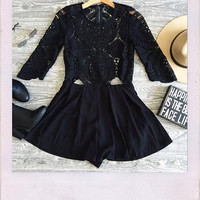 All About You Playsuit- Black {Boutique Collection}