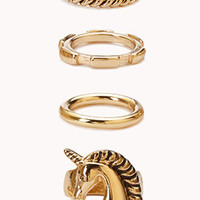 Whimsical Unicorn Ring Set | FOREVER 21 - 1000050828