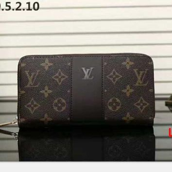 LV Zipper Women Leather Purse Wallet H-LLBPFSH