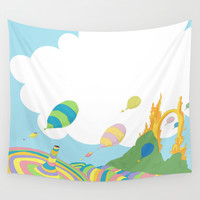 oh the places you'll go .. dr seuss Wall Tapestry by Studiomarshallarts