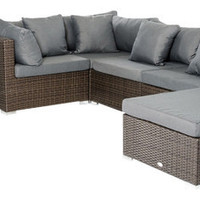 2015 Modern Rattan Furniture Patio Outdoor Sectional Sofa Set