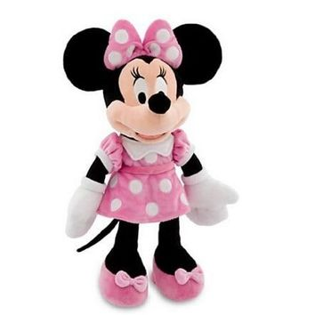 Original Minnie Mouse Toys 48cm 19'' Minnie Pink Stuffed Animals Pelucia Mickey Mouse Girl Friend Minnie Plush Toys for Children