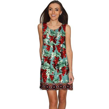 Toscana Sanibel Green Fit & Flare Empire Dress - Women