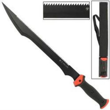 23 in ZOMBIE Killer Saw Back Machete WG1127
