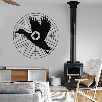 Vinyl Wall Decal Duck Target Hunting Club Hobby Hunter Art Stickers Mural Unique Gift (ig5141)