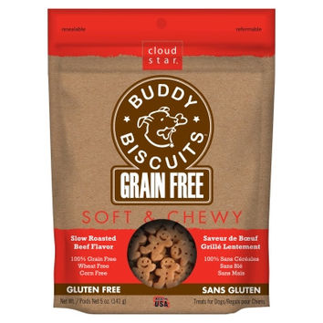 Cloud Star Beef Grain Free Soft Buddy Biscuit Dog Treats