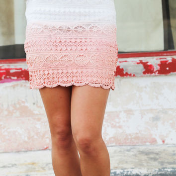 Two-Tone Crochet Skirt