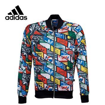 Adidas New Arrival Official Men's Originals Tongue Labels Superstar Track Jacket Breathable Sportswear AB7683