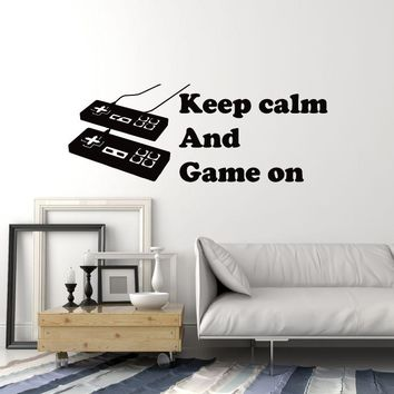 Vinyl Wall Decal Gamer Quote Gaming Art Video Game Room Decoration Stickers Mural (ig5262)