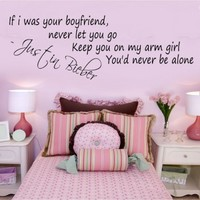 If I was your bf Justin Bieber - G Direct Wall Stickers