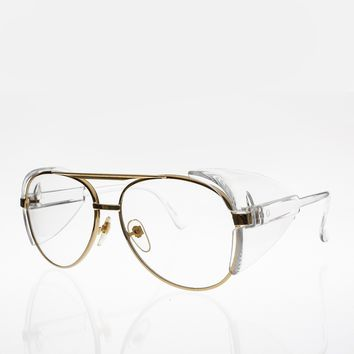 Vintage Safety Aviator Glasses with Protective Side Shields - Hurley