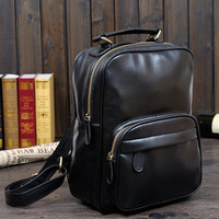 womens retro leather bookbag