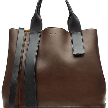 Leather Tote - Marni | WOMEN | US STYLEBOP.COM