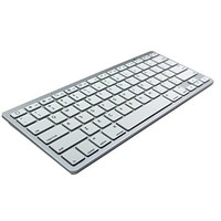Bluetooth V3.0 Wireless Portable Ultra-slim Keyboard for Window ME/2000/XP/Vista/7/8, iPhone 3/4/4s/5, Ipad2/3/4/MINI, IPod, MAC Operating System and Other Mobile Devices (Silver)