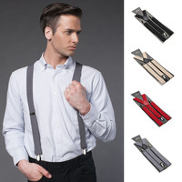 Fashion Women Men's Unisex Clip-on Braces Elastic Slim Suspender 1Inch Wide 36 colors Y-Back Suspenders Male Pants Jeans Braces