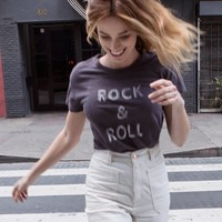 Free People Rock N Roll Tee