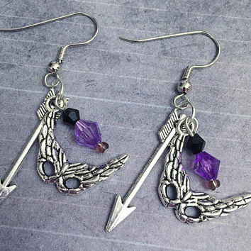 Hawkeye Inspired Earrings - Superhero Jewelry - Avenger Jewelry - Clint Barton Inspired Jewelry - Fandom Jewelry - Hawkeye Earrings
