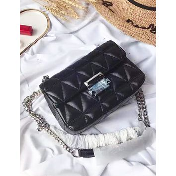 Michael kors hot seller of stylish casual monochrome women's one-shoulder bag with zigzag lines