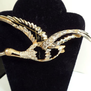 1940's Corocraft Sterling Flying Goose Brooch-Large Piece!