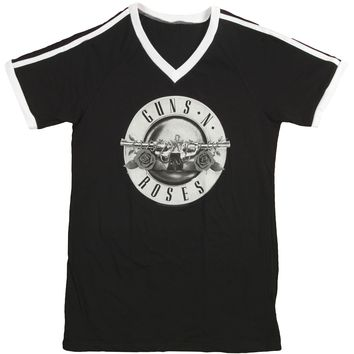 Guns N Roses  Bullet Logo Girls Jr Jersey Black Rockabilia