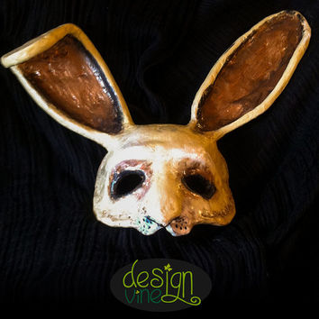 Decorative Handmade Paper Mache Rabbit Mask