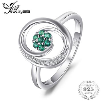 0.12ct Nano Russian Simulated Emeralds Ring
