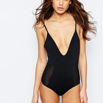 Lira Limitless Mesh Side Swimsuit at asos.com