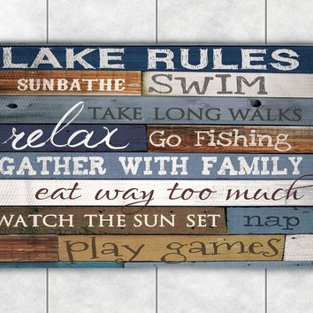 Lake Rules Accent Rug