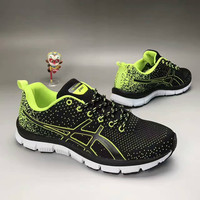 """ASICS"" Fashion Casual Breathable Knit Fly Line Anti-skid Bottom Sneakers Women Running Shoes"