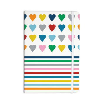 """Project M """"Heart Stripes"""" Rainbow Shapes Everything Notebook"""