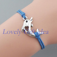 Dolphins bracelet Dolphins jewelry Silver Dolphins charm Friendship gift jewelry Graduation gift Wholesale or retail