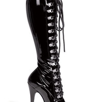 Lace Up Knee High Boot 5 Inch Stiletto Heel < Sexy Costumes | Flirt Catalog