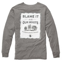 Our Roots Long Sleeve Tee in Heather Grey by Southern Proper