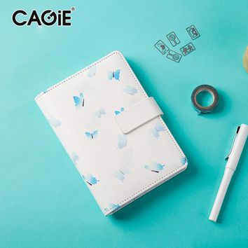 CAGIE Cute Creative Notebooks and Journals Female Kawaii Daily Planner Organizer Filofax A6 Personal Diary Hasp Sketchbook