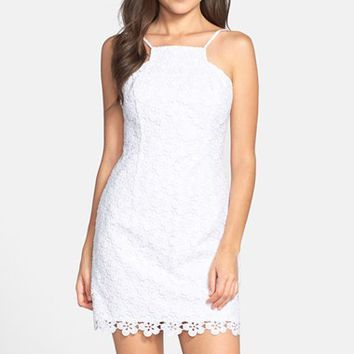 Women's Lilly Pulitzer 'Katie' Strappy Lace Sheath Dress