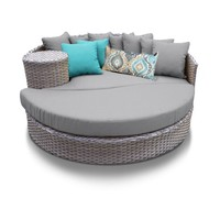 Harmony Circular Sun Bed - Outdoor Wicker Patio Furniture - Walmart.com