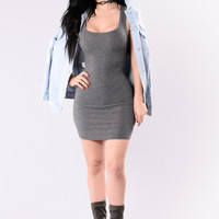 One of the Boys Dress - Charcoal