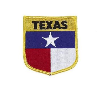 "TEXAS STATE FLAG SHIELD PATCH 3.5 "" Iron or Sew On"