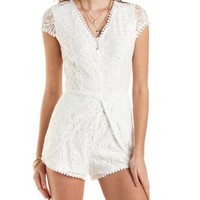 Tulip and Lace Romper by Charlotte Russe