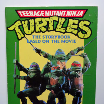 Vintage Teenage Mutant Ninja Turtles Storybook  1990